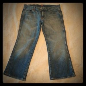 7 for all mankind denim crop pants